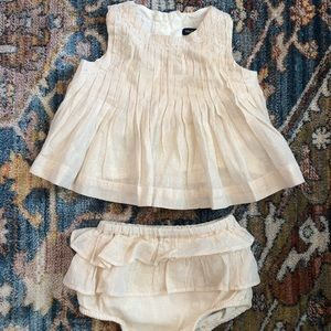 Baby Gap Shimmery Champagne Outfit Set 3-6m